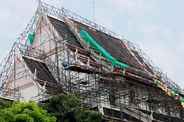 Renovatie van een leien dak