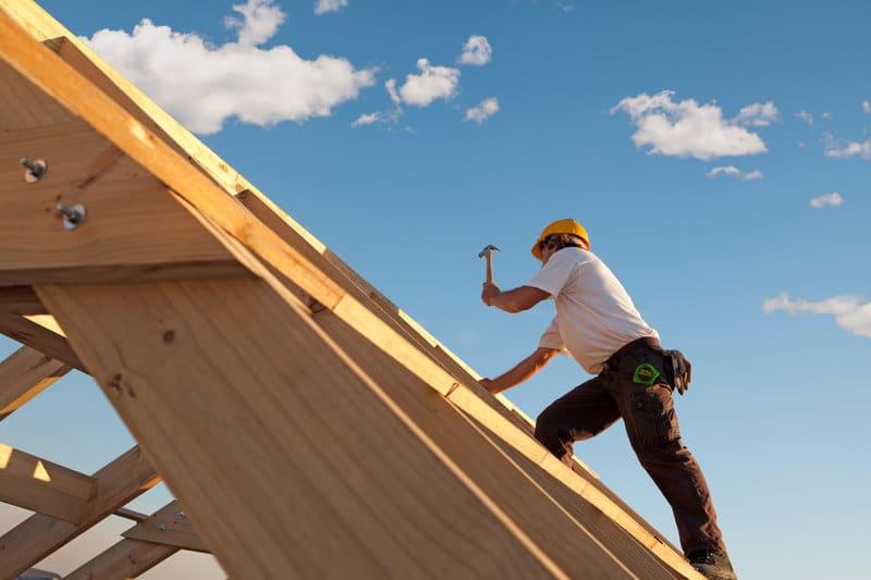rieten dak constructie
